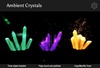 Ambient Crystals with sound and particles