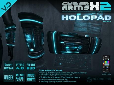 CYBER ARMS X-2 HOLOPAD TYPING-AO [NeurolaB Inc.]