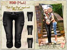 FDD{Mesh} *Tight Capri Pants* black leather