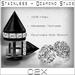 ~C2X~ Stainless Steel & Diamond Stud Piercings [BLK]