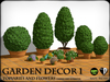 Garden Decor 1 - Topiaries and Flowers
