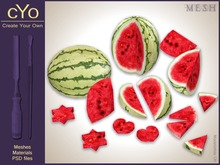 cYo Watermelon Pack, full perms meshes