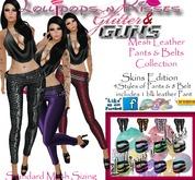 Lollipops n' Kisses Glitter & Guns Leather Pants & Belt - Skins