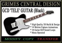 ELECTRIC GUITAR (Black Telecaster)