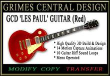 GUITAR  'Les Paul'  (Red)