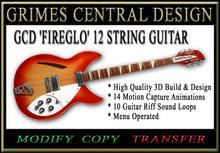 GCD - ELECTRIC GUITAR (Rickenbacker Fireglo)