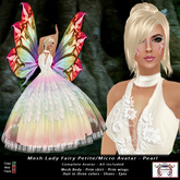 Mesh Lady Fairy Petite - Micro Avatar - Pearl (All Included)