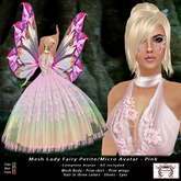 Mesh Lady Fairy Petite - Micro Avatar - Pink (All Included)
