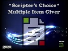 *SC* Multiple Item Giver Script