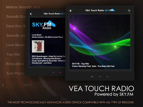 VEA Touch Radio - Powered by SKY.FM - Audio and Media