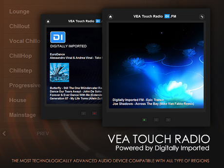 VEA Touch Radio - Powered by DI.FM (Digitally Imported) - Audio and Media