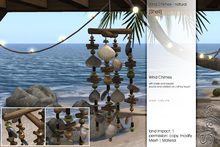 Sway's [Shells] Wind Chimes - natural