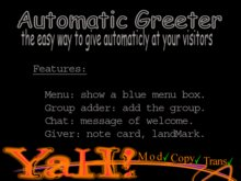 Greeter Automatic Giver with menu