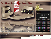 *DAFNIS SANDALS FOR FLAT SLINK FEET NO INCLUDE
