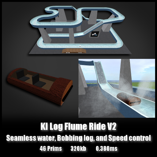 KILogFlumeRide V2 *0.380ms* seamless water bobbing log and speed control