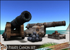 HeadHunter's Island - Pirates' canon set - w/ canon ball and crate-decor RUST&REGULAR - 7 animations - MESH