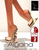 Ruxy-Aiyana Mesh Shoes cream silver for Slink High Feet