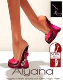 Ruxy-Aiyana Mesh Shoes pink silver for Slink High Feet