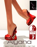 Ruxy-Aiyana Mesh Shoes red silver for Slink High Feet