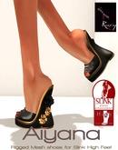 Ruxy-Aiyana Mesh Shoes black gold for Slink High Feet