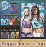 NS::  Mesh Happy Summer Top