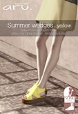 aru. Summer wedges (yellow) (add)