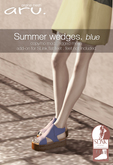 aru. Summer wedges (blue) (add)