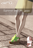 aru. Summer wedges (green) (add)