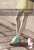 aru. Summer wedges (turquoise) (add)