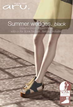 aru. Summer wedges (black) (add)