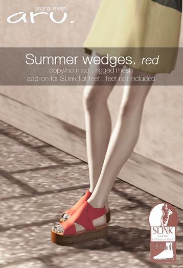 aru. Summer wedges (red) (add)