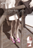 aru. Duo flats (plum) (Add)