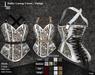 DE Designs - Halter Laceup Corset - Vintage - White
