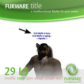 FURWARE title - Floating text script for your avatar