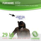 FURWARE title - Floating Text-Skript für deinen Avatar