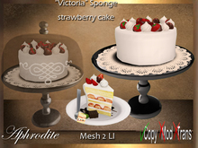 Aphrodite Victoria Sponge cake- Cream and Strawberries delight!