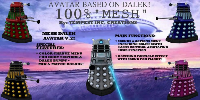Avatar Based on Dalek MESH