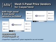 [MW] Mesh 5-Panel Price Vendor Set for CasperVend