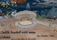Cuddle Seashell with menu and column(are fish emitter too)