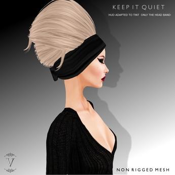 Vanity Hair: Keep It Quiet-Blacks(MESH)
