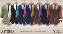 Asteria MensWear-Seasonal Mesh Shirt-Tie&Waistcoat - ALL DEMO