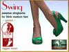 Bliensen + MaiTai - Swing - vintage Shoes for Slink Mid - Green