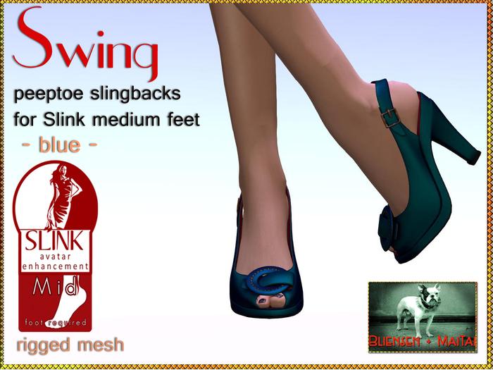 Bliensen + MaiTai - Swing - vintage Shoes for Slink Mid - Blue