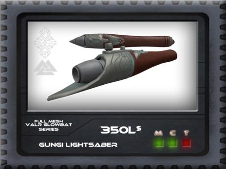 Gungi Hilt – This is my homemade gungi (wookie jedi from clone wars) lightsaber hilt.