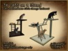 *GALLI* - Mesh - 3x Cats on a Stand  - Touch each Cat &or the Stand to change the Texture - Mesh LI 4