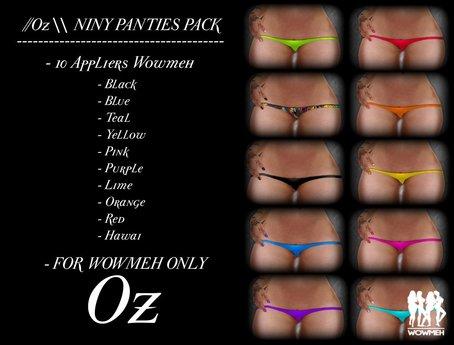 //Oz \\ NINY PANTIES PACK