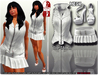Female outfit  w DAFNIS TIC TAC + slink heels for high feet (feet no include)