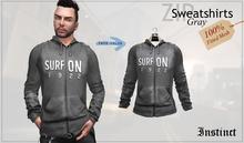 Instinct- Zip Sweatshirts - FITTED MESH - Gray