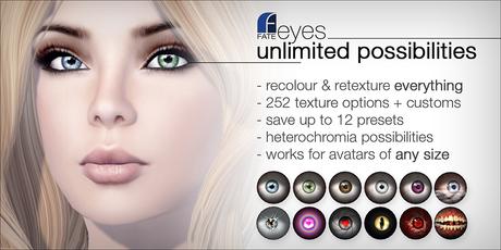 FATEeyes - unlimited customisation (MESH EYES)