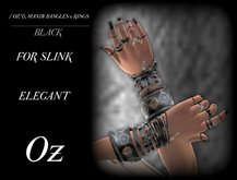// OZ \\ MANDY RINGS FOR SLINK ELEGANT - BLACK
